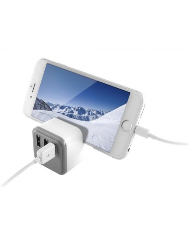 KSIX CARICABATTERIE USB CON SUPPORTO E SMARTCHARGE