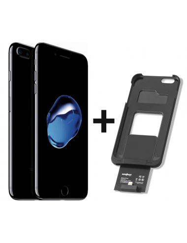 iPhone 7 Plus 256GB Jet Black + miniBatt PowerCase IP7 Plus